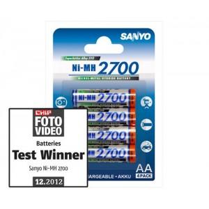 Аккумуляторы АА Sanyo 2700 mAh (блистер)