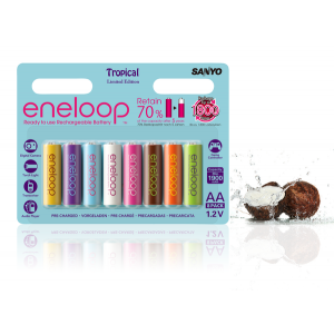 Аккумуляторы АА Sanyo Eneloop 2000 mAh Tropical Limited Edition