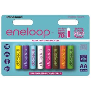 Аккумуляторы АА Panasonic Eneloop Tropical (8шт. в блистере)