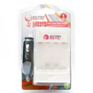 Зарядное устройство EXTRADIGITAL Smart Super Rapid c LCD